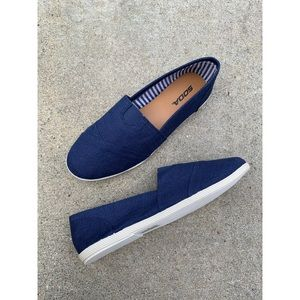 Soda Navy Blue Toms Slip On Shoes